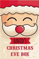 Personalised Vinyl Christmas Eve Box Sticker